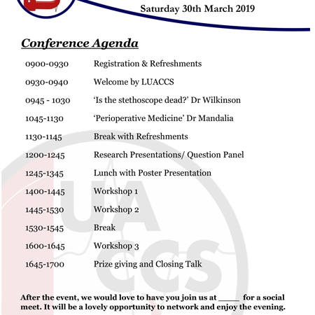 LUACCS National Anaesthetic and Critical Care Conference