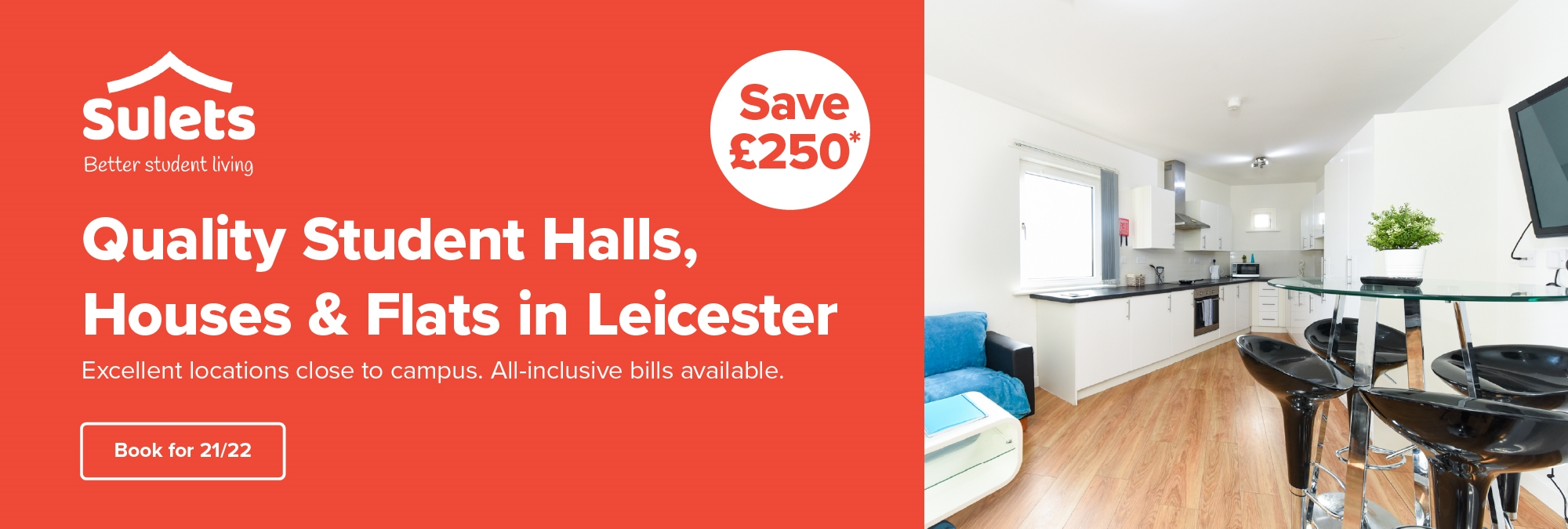 Quality student halls, houses and flats in leicester - SU LETS ADVERTISEMENT