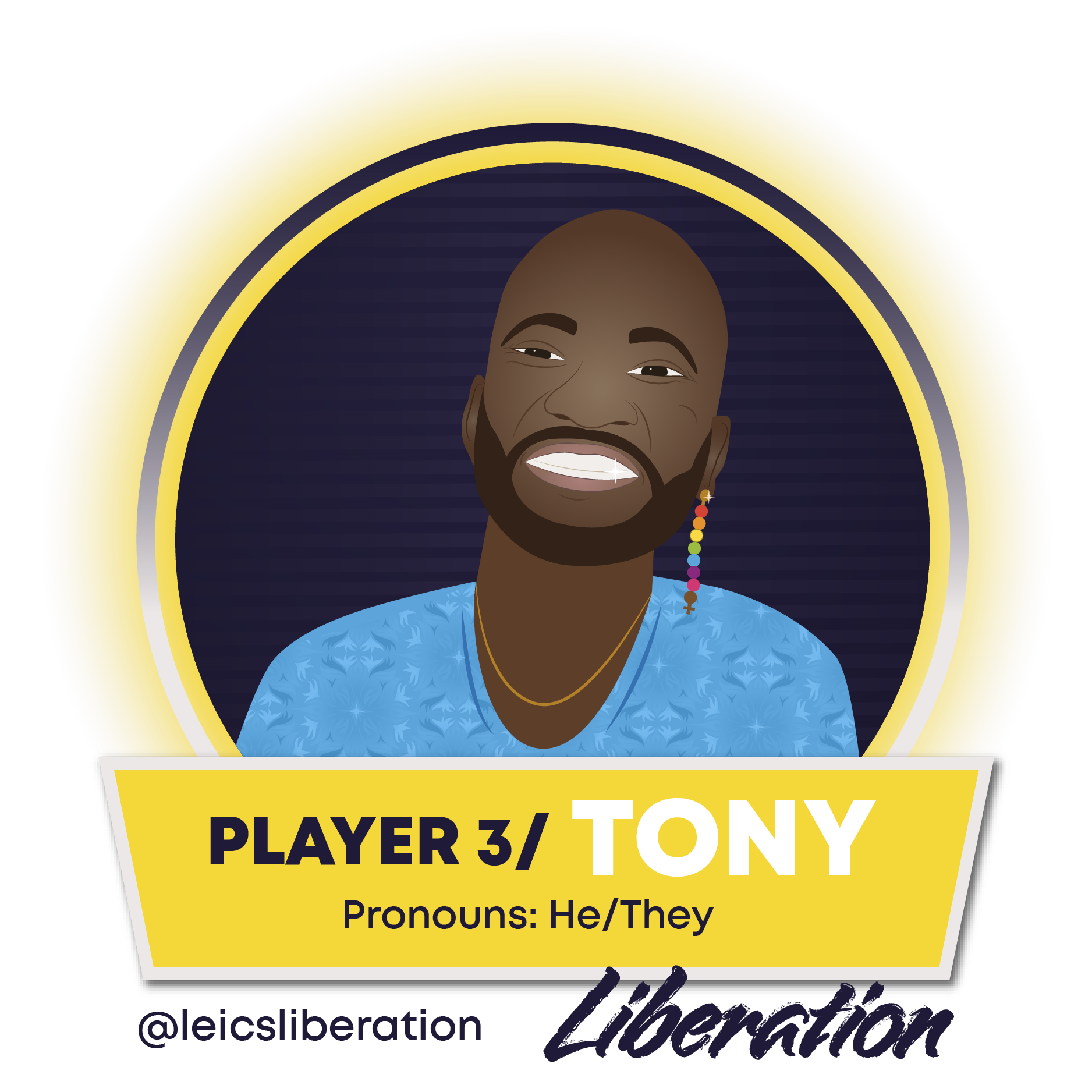 Image of Tony Magaia, liberation officer he/they - click to view Tony's full profile